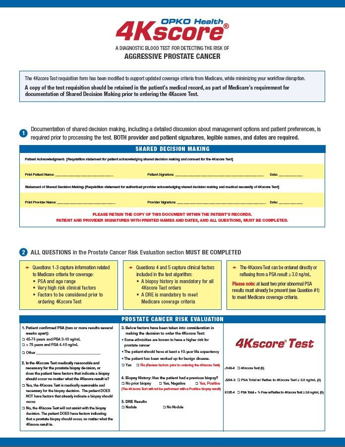 201024 4Kscore Test Requistion Guide